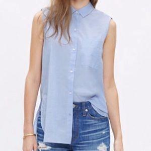 Madewell Sleeveless Button Down Top Size Medium